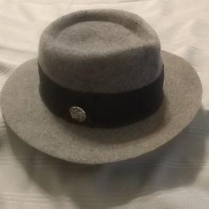 Grey 100% Wool Hat